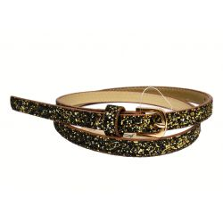 paillette thin belt, gold...