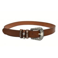 leatherette western brown...