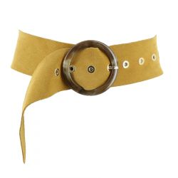 Wide suede leather belt,...
