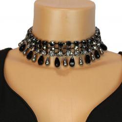 strass collar, water drop