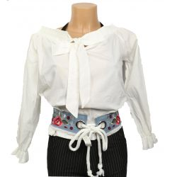 jeans embroidered belt,...