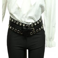 wide tie belt, black PR154